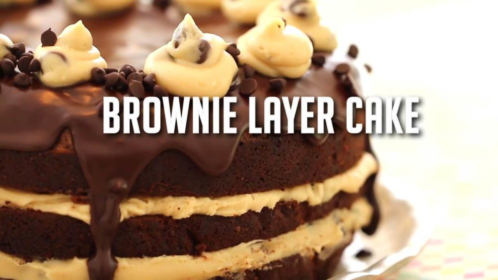 Brownie Layer Cake Chomp